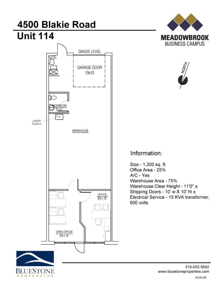 4500 Blakie Rd, Unit 114 - Floor Plan