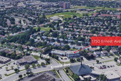 Ernest Ave. 1750, Unit 202 - Aerial- 02 (Labeled)