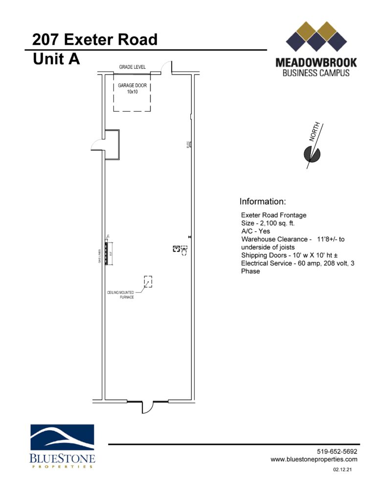 207 Exeter Rd, Unit A - Floor Plan