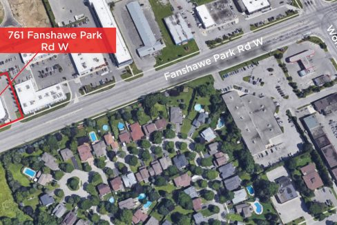 Fanshawe Park Rd. W. 761 - Aerial (Labled)