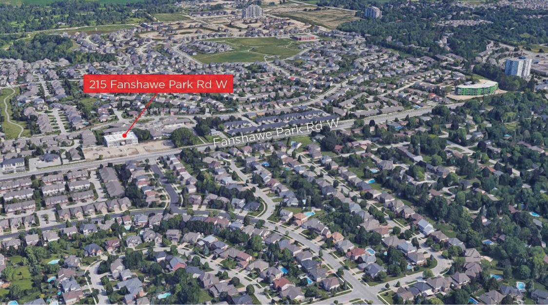 Fanshawe Pk Rd W 215 - Aerial - 02 (Labeled)