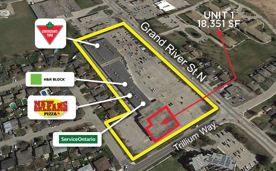 Grand River St. 300 - Aerial - 02 - outlined_businesses (Unit1)