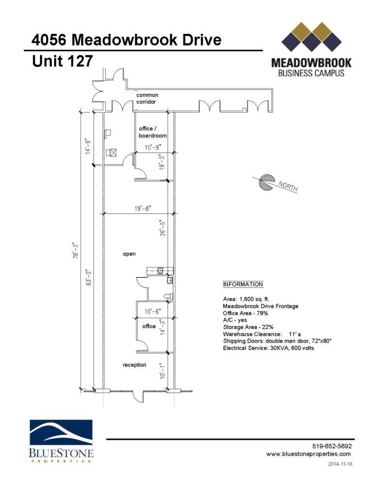 4056 Meadowbrook Dr, Unit 127 - Floor Plan