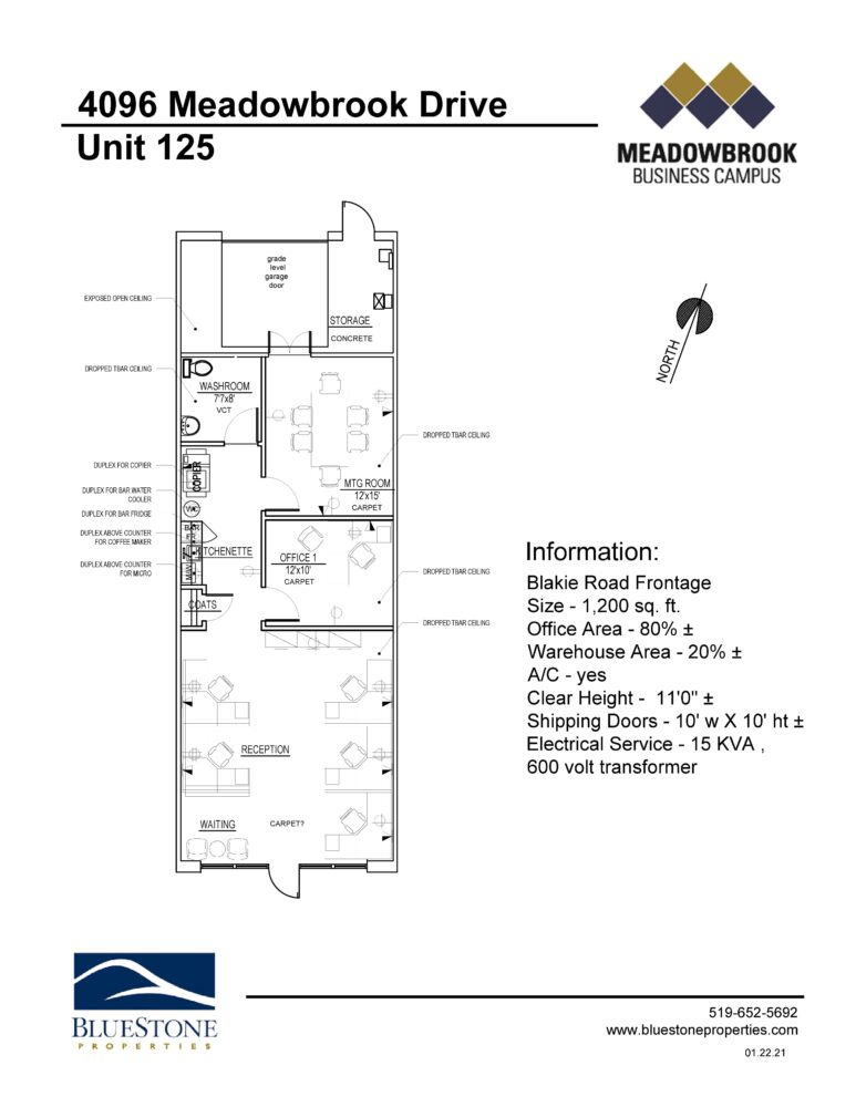 4096 Meadowbrook Dr, Unit 125 - Floor Plan