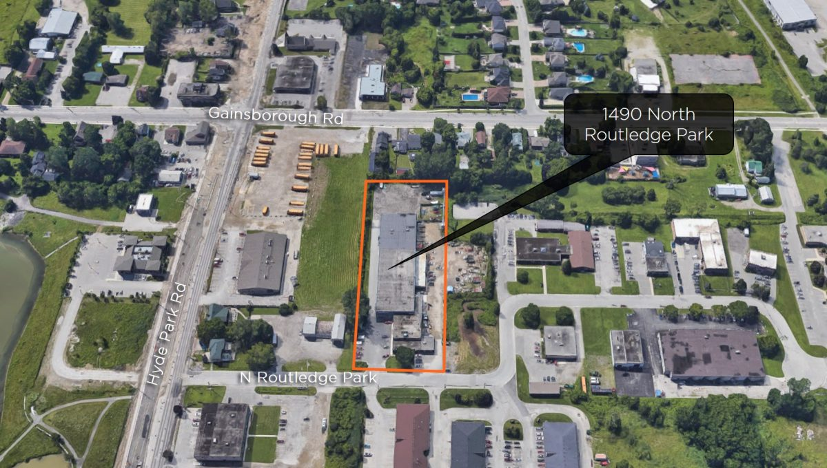 North Routledge Pk. 1490 - Aerial