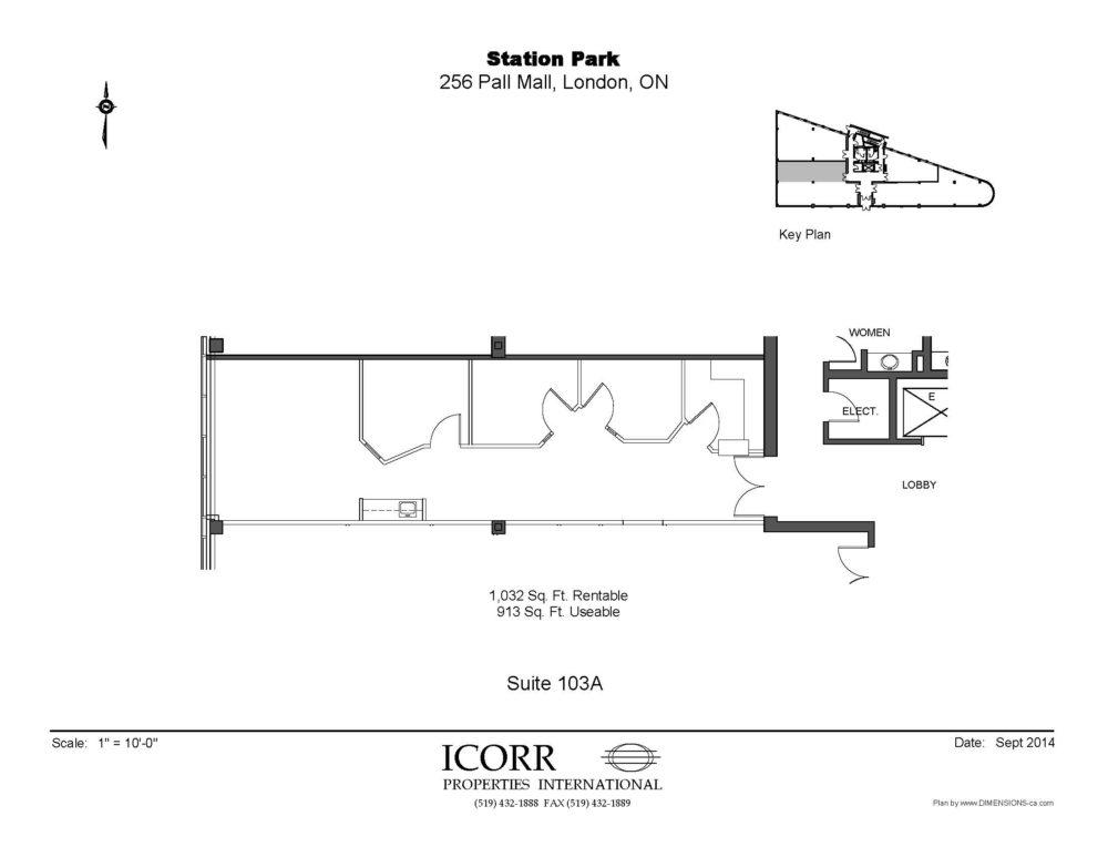 Suite 103A - Floor Plan