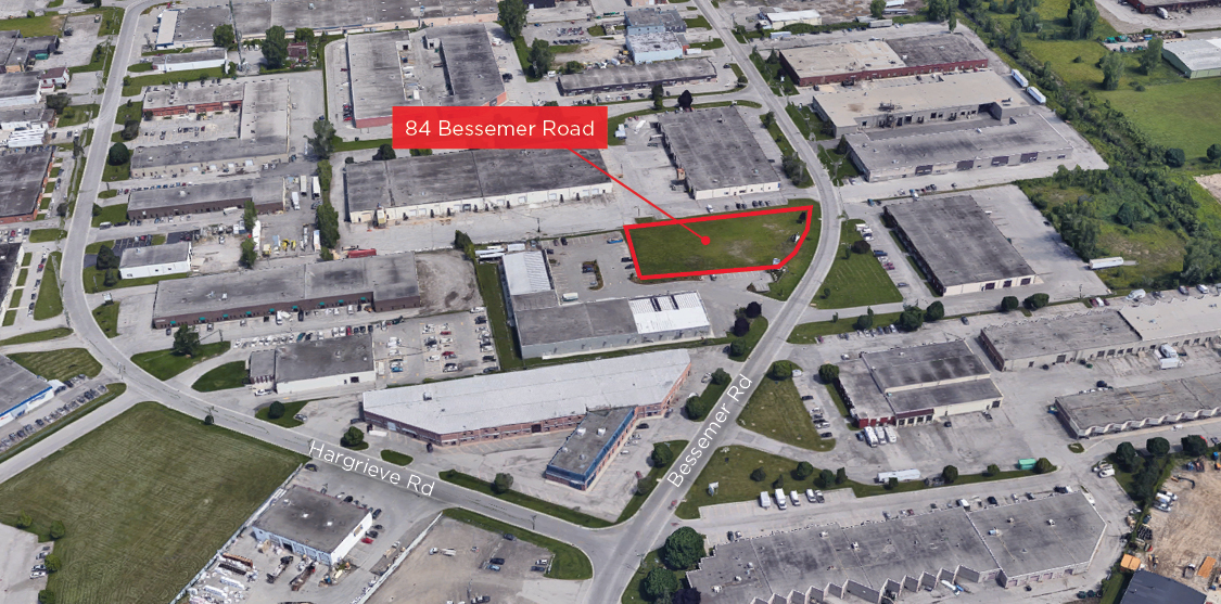 Photo - Bessemer Rd. 84 - Aerial - (Facing North) - Labeled