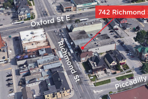 Richmond St. 742 - Aerial (labeled)