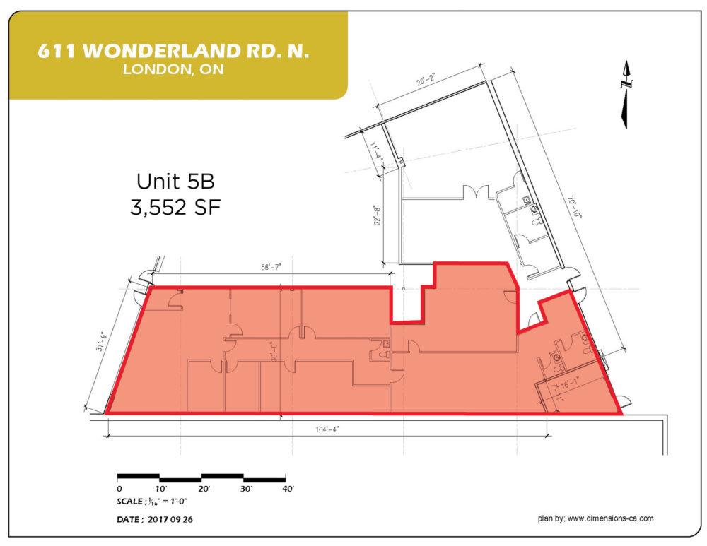 Floor Plan - Unit 5B