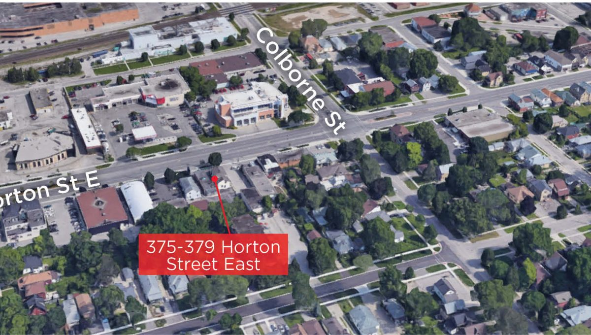 Horton St. 375-379 - Aerial (labled)