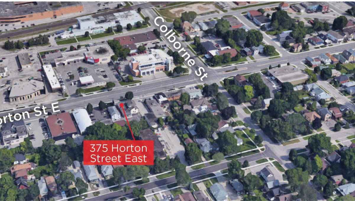 Horton St. 375 - Aerial (labled)