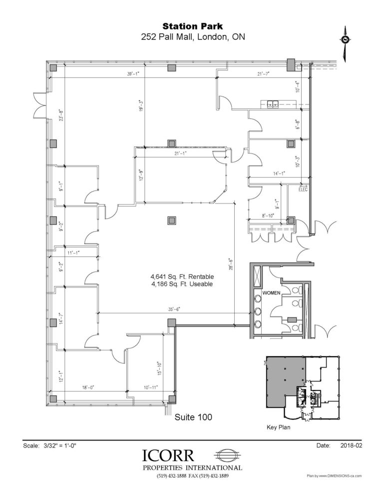 Floor Plan - Unit 100