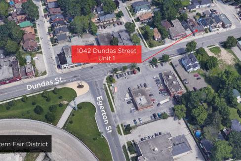 Dundas St. 1042 - Aerial (labeled)