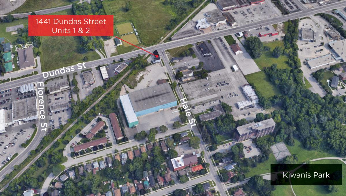 Dundas St. 1441 - Aerial (labeled)