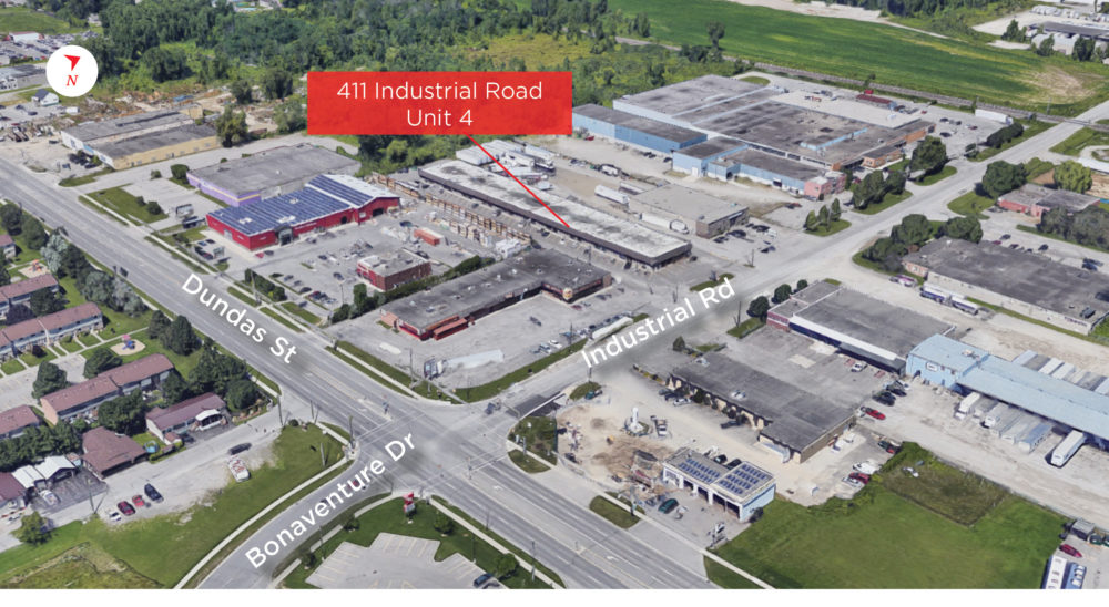 Industrial Rd. 411, Unit 1 - Aerial (labeled)