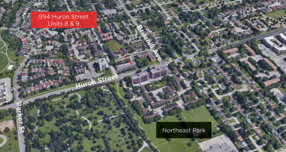 Huron St. 994 - Aerial 03 (labeled)
