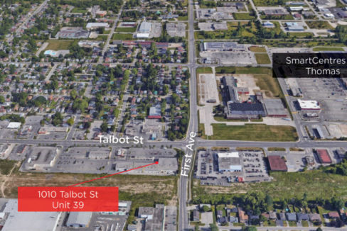 Talbot St. 1010, Unit 39 - Aerial (labeled)