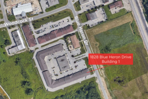 Blue Heron Dr. 1828 - Aerial - 6 (Facing North Building 1 Labeled)