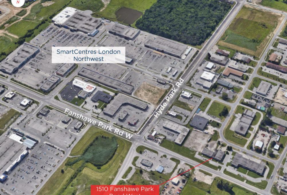 Fanshawe Park Rd. W. 1510, Unit 2 - Aerial (labeled)