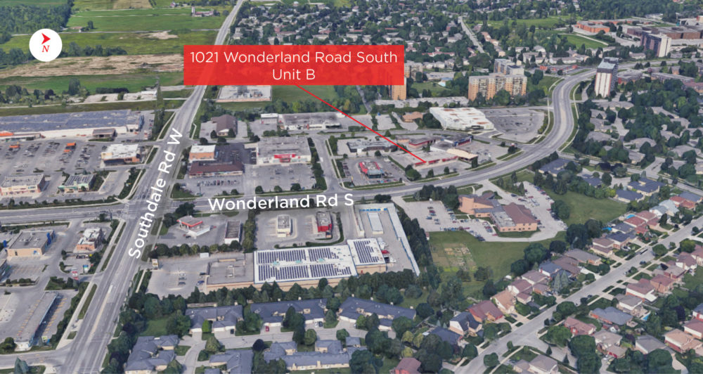 Wonderland Rd. S. 1021, Unit B - Aerial (labeled)