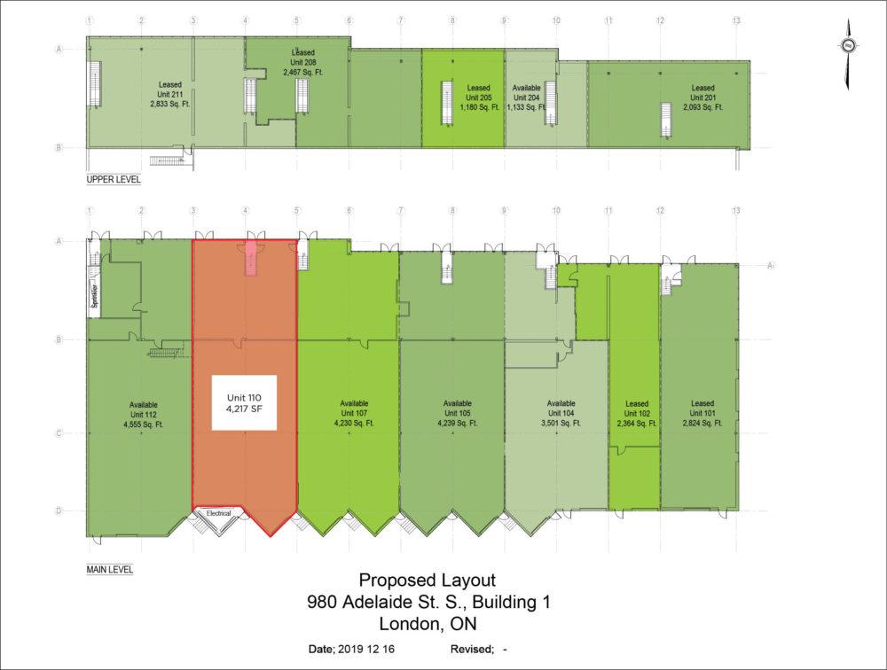 Floor Plan - Unit 110, Building 1