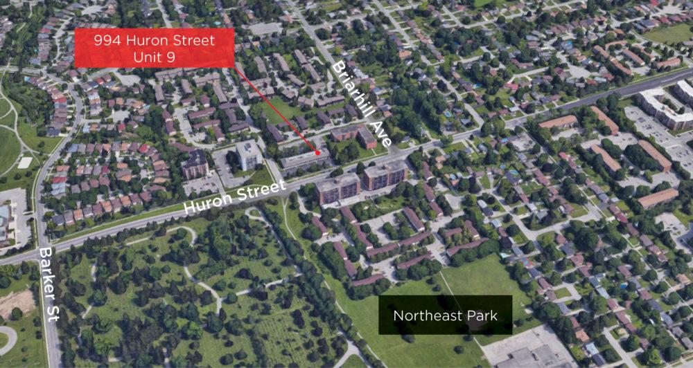 Huron St. 994 - Aerial 03 - (Unit 9)