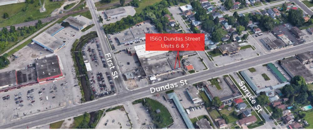 Dundas St. E. 1560 - Aerial - 02 (labeled)