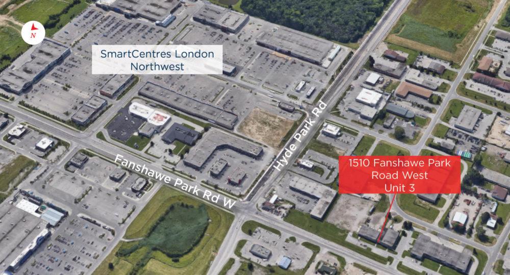 Fanshawe Park Rd. W. 1510, Unit 3 - Aerial - 01 (labeled)
