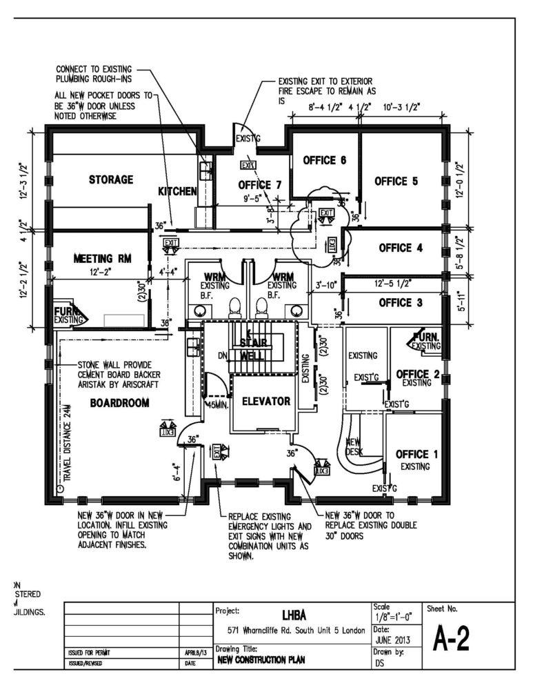 Level 3, Units 1 & 2 - Floor Plan