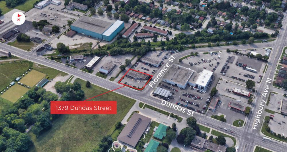Dundas St. 1379 - Aerial - 01 (labeled)