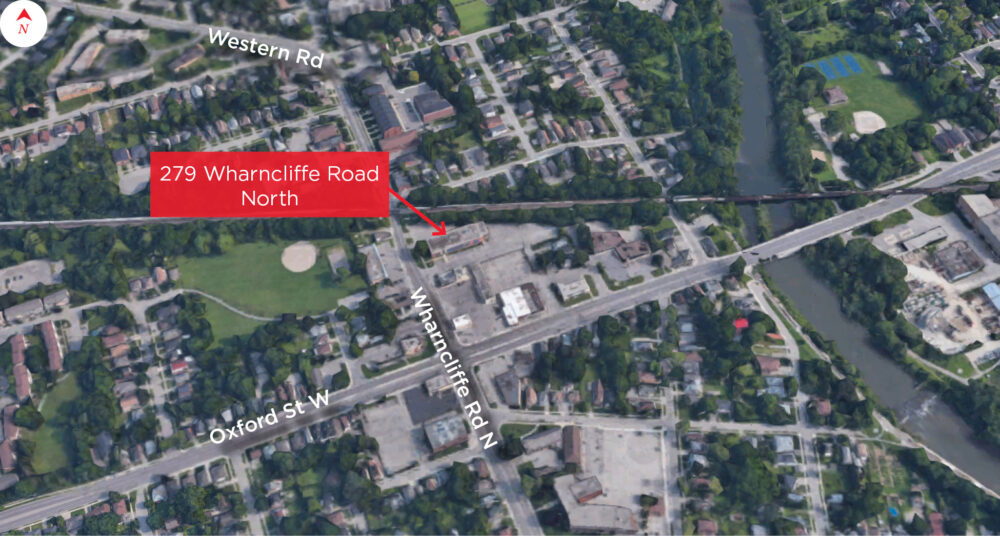 Wharncliffe Rd. N. 279 - Aerial (Outlined)