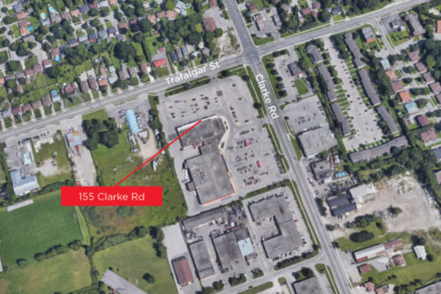Clarke Rd. 155, Unit 2 - Aerial (labeled)