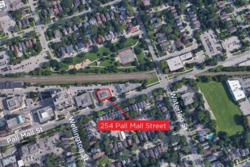 Pall Mall St. 254 - Aerial (labeled)