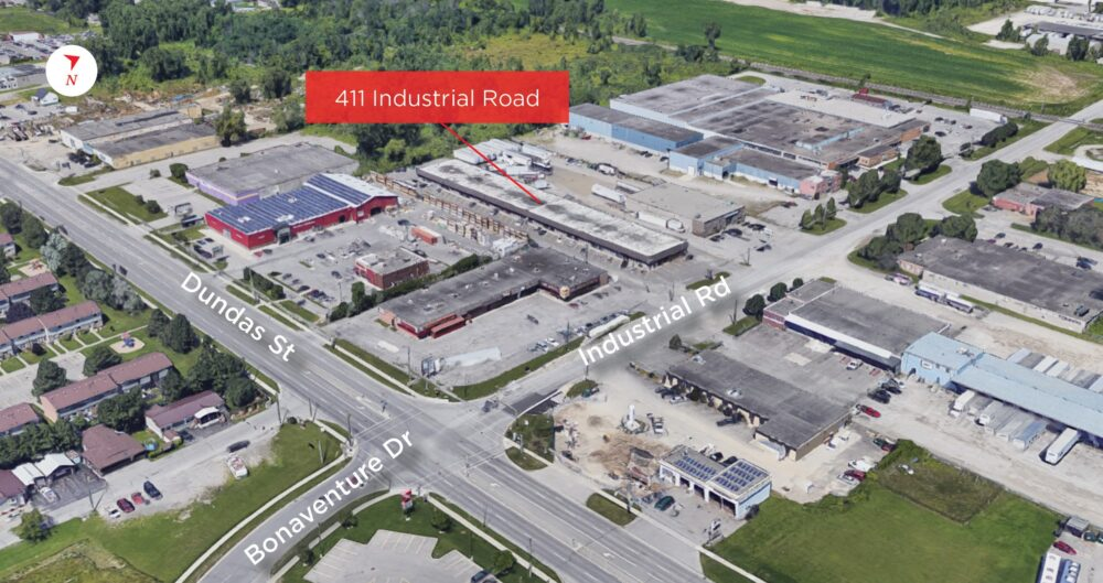 Industrial Rd. 411 - Aerial 02 (labeled)