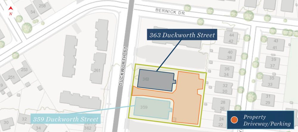 Duckworth St. 359-363 - City Map (labeled)