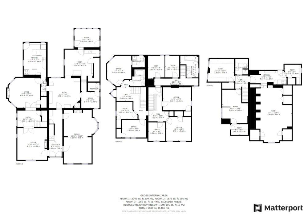 Floor Plan - Floors 1-3