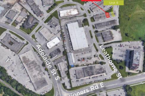 Leathorne St. 958, Unit 7 & 9 - Aerial (labeled)