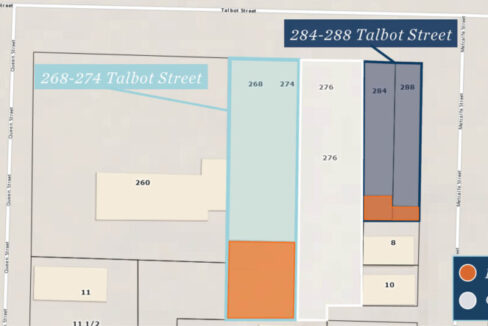 Talbot St. 268 - 284 - Property Lines (labeled)