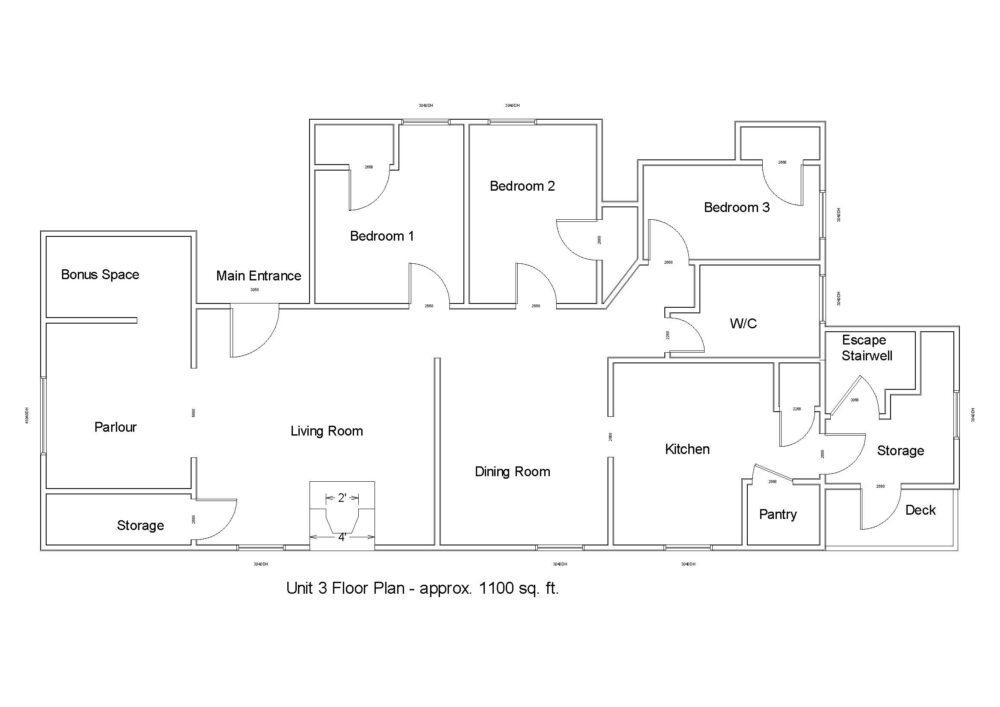 Floor Plan - Unit 3