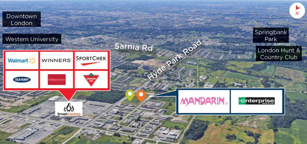 Hyde Park Rd. 1800 & 1820 - Aerial - 01 (labeled) V2