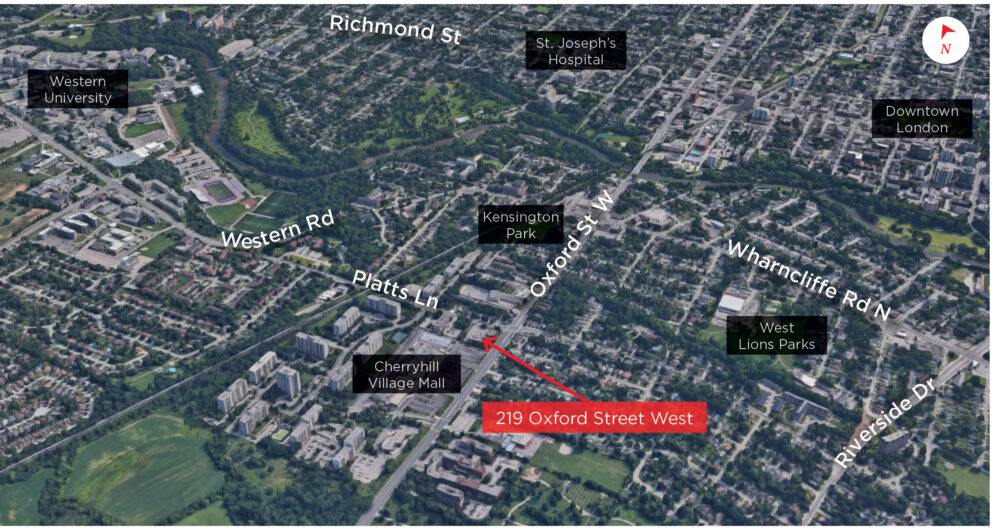 Oxford St. W. 219 - Aerial - 01 (labeled)