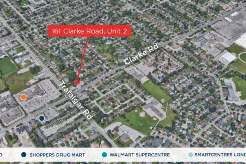 Clarke Rd. 161, Unit 2 - Aerial - 01 (labeled)