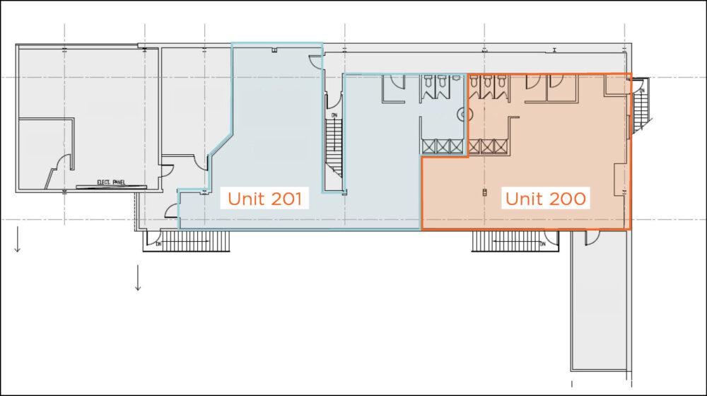 Floor Plan - Units 200 & 201
